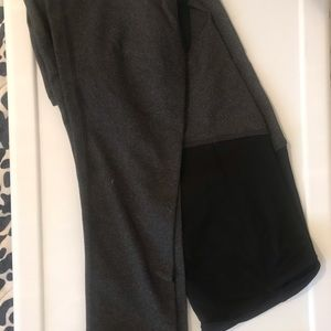 Grey activewear leggings maternity